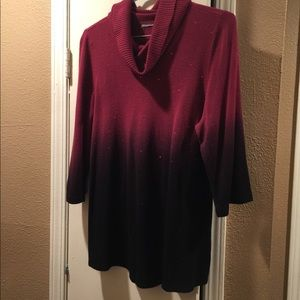 Ombré sz xl style and co sweater w/crystals